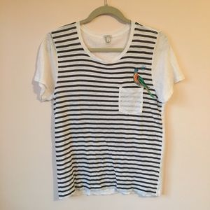 J. Crew Bon Jour stripe top